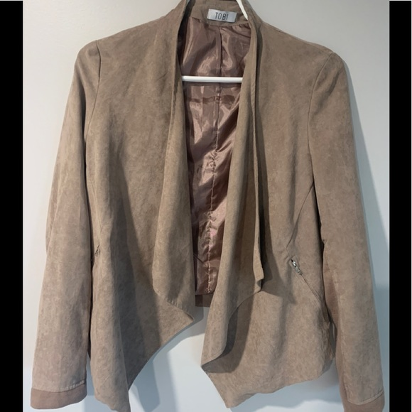 Tobi cropped suede blazer